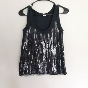 J.Crew Sequin Layering Tank in Navy Blue